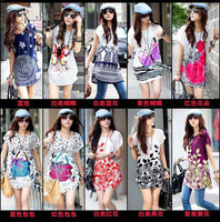 2014 Fashion Tshirt  Spring summer  lady's Tshirt  girl's Tshirt 10pc/lot  free size JTS228-5