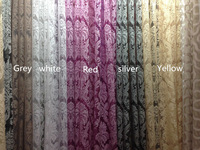 Free shipping-280CM width Luxury Burn-out tulle curtain fabric, sheer curtain fabric, voile curtain fabric 5 colors