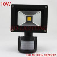 3pcs/lot  waterproof  10W PIR motion sensor LED floodlight  warm white/cold white AC85~265V