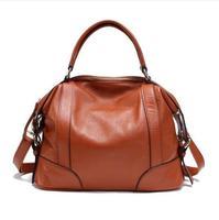 100% Genuine Leather Bag 2015 New Hot Women Leather Handbag Fashion Women Messenger Bags Hot Shoulder Bag Bolsas Women Tote