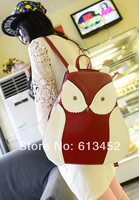 Owl double-shoulder backpack new fashion animal 2014 lovely  new cute hot sell handbag for famale high quality tote cross-body