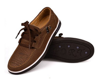 Free shipping hot sale 2014 new fashion men's Casual shoes Genuine Leather men's shoes  brand man shoes TB-168