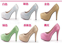 2014 hot sale free shipping high heel shoes Fashion high heels women heels fashion sexy cloth pumps1 pair wholesale TB-ZY65