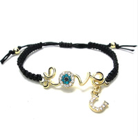 Min Order $10(Mix Order) Free Shipping,Turkry Blue Devil Eye hamsa Hand Knitted Love U Bracelets,Fashion Jewelry Wholesale