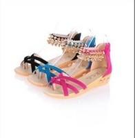 Wholesale - 2014 new summer fashion suede shoes flip wedge heel lady women sandals