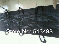 220*75 Transport Body Bag 6 Padded Handle Black Vinyl Emergency Disaster(China (Mainland))