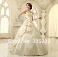 Free shipping best selling custom-made white&ivory&any color  Sweetheart Sleeveless Wedding Dresses SH0072
