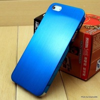 New Ultra Thin Brush Metal Aluminum Case Cover Back For iPhone 5 5S Gold Silver and Black Case