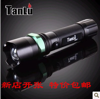 Free shipping 007 aluminum alloy Glare  led flashlight  zoom life-saving hammer for lower price inquiry now