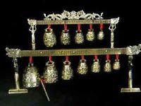 Rare Brass bells Chinese Tibet dragon glockenspiel / Free Shipping