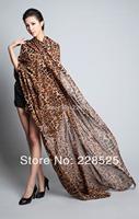 New Style Fashion Hot Leopard Scarf Women Warm animal print Leopard favorite super star shawl +Free Shipping WJ005