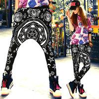 New 2014 summer Loose harem pants women Drop crotch pants Hip hop dance pants Punk Harajuku rock style Sportswear joggers