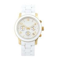 2014 New WHITE rubber watches famous Luxury Brand Women Ladies dress watches clock Quartz WristWatch