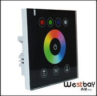 RGBW LED touch controller 24V 12V DC LED Touch Panel Full-color Controller rgb led strip controller White,Black available