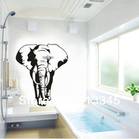 [Saturday Mall] - large solid wall stickers animals decals removable home living room decoration pattern elephant 4110