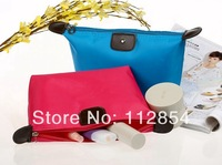 Free Shipping+Wholesale fashion candy color cosmetic bag nylon storage bag foldable cosmetic makeup bag,120pcs/lot