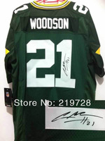 New Signed Autographed Jersey Elite #21 Charles Woodson Cheap Wholesale&Retail American Football Jerseys Mix Order Free Shipping