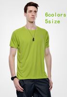 Drop shipping men's quick-dry T-shirt short sleeve t-shirt sportswear breathable dry easy 6colors