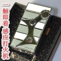2014 induction lighter touch liuzhou morning pulse lighter windproof lighter belt gift box
