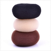 Perfect 12pcs/lot DIY Retail 3 Colores/Sizes Nylon Hair Bun Styling Donut Maker Hair Accessory