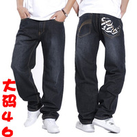 Spring new arrival plus size male street jeans hiphop jeans pants plus size pants 46