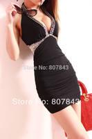 new 2014 fashion Women's Dress Sexy sequin DINNER SUIT clubwear  petite size