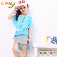 2013 children's clothing female child summer one-piece dress child summer one-piece dress princess dress q13