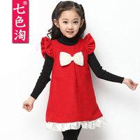 Children's clothing autumn 2014 skirt  autumn female child dress child princess dress