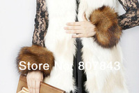 NEW Luxury Women Faux fox Fur Short Winter Wrist Arm Warmer Cuff Wristband