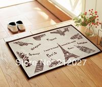 Free shipping ZAKKA Coton Linen Anti Slip floor mat The Famous Building slip-resistant Door mat /carpet mats /rug mat 60X40CM