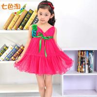 12 girl one-piece dress one-piece dress female child summer skirt child princess dress