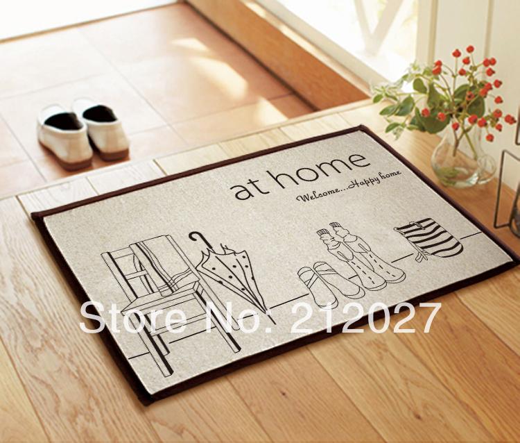 Free shipping ZAKKA Coton Linen At Home Design Anti Slip floor mat slip-resistant Door mat /carpet mats /rug mat 60X40CM(China (Mainland))
