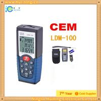 Free Shipping 100m laser distance meter Laser Rangefinder Laser range finder Laser tape measure CEM LDM-100 cheap OEM wholesale
