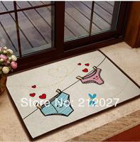 Free shipping ZAKKA Panties Anti Slip floor mat Coton Linen slip-resistant Door mat /carpet mats /rug mat 60X40CM