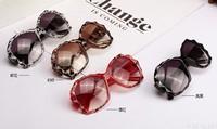 Free shipping(2pcs/lot)8185 For men&women plastic rhombus frame sunglasses/frog mirror sunglasses