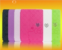 P600 P601 KT Cover Case - South Korea Hello kitty cartoon cover case for SAMSUNG Galaxy Note 10.1 2014 version P600 P601