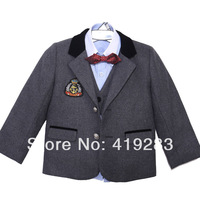 New 2014 autumn and winter thickening plus cotton classic male flower girl formal dress male child suit baby boy formal dress
