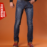2013 autumn and winter jeans men's clothing straight