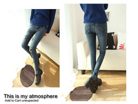 2014 spring fashion designer brands women's trousers hole jeans ladies slim pencil pants size 26-31 HK008