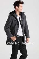 New Style Autumn and Winter Jackets For Men Splice Wool Jacket men's slim fit Windproof Outerwear Warm Mens Coat Winter Overcoat