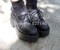 2014 autumn Ulzzang sty nda HARAJUKU platform fashion vintage high-heeled platform thick heel single shoes