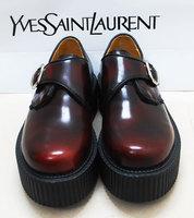 Zipper amo soft vintage retro finishing Wine red genuine leather platform single shoes