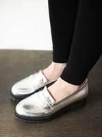 Sz sty nda2014 spring silver vintage fashion single shoes flat women's shoes