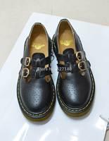 2014 autumn cutout carved fashion preppy style buckle flat heel platform shoes