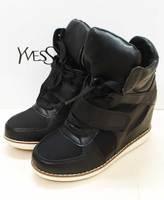 Shoes ash star velcro elevator sneaker high single shoes