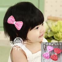 Belt bow baby hair clips baby hair accessory child princess hair accessory fj008