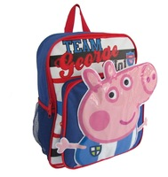 New 2014 Peppa Pig Girls Boys Schoolbag Pepe Pig Children Backpack Schoolbag Cartoon Backpack Kids Bags