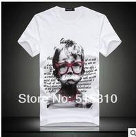 2014 summer men's  T -shirt New fashion Child crying face T -shirt ,Printed short-sleeved t-shirt