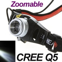 CREE Q5 LED Lamp Head light Torch Headlamp Zoomable for Camping Hiking Hunting riding Free Shipping