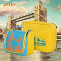 2014 new arrived men and  women's trolley luggage bag  fashion  travel bag storage bag set women cosmetics bag   2pcs/set